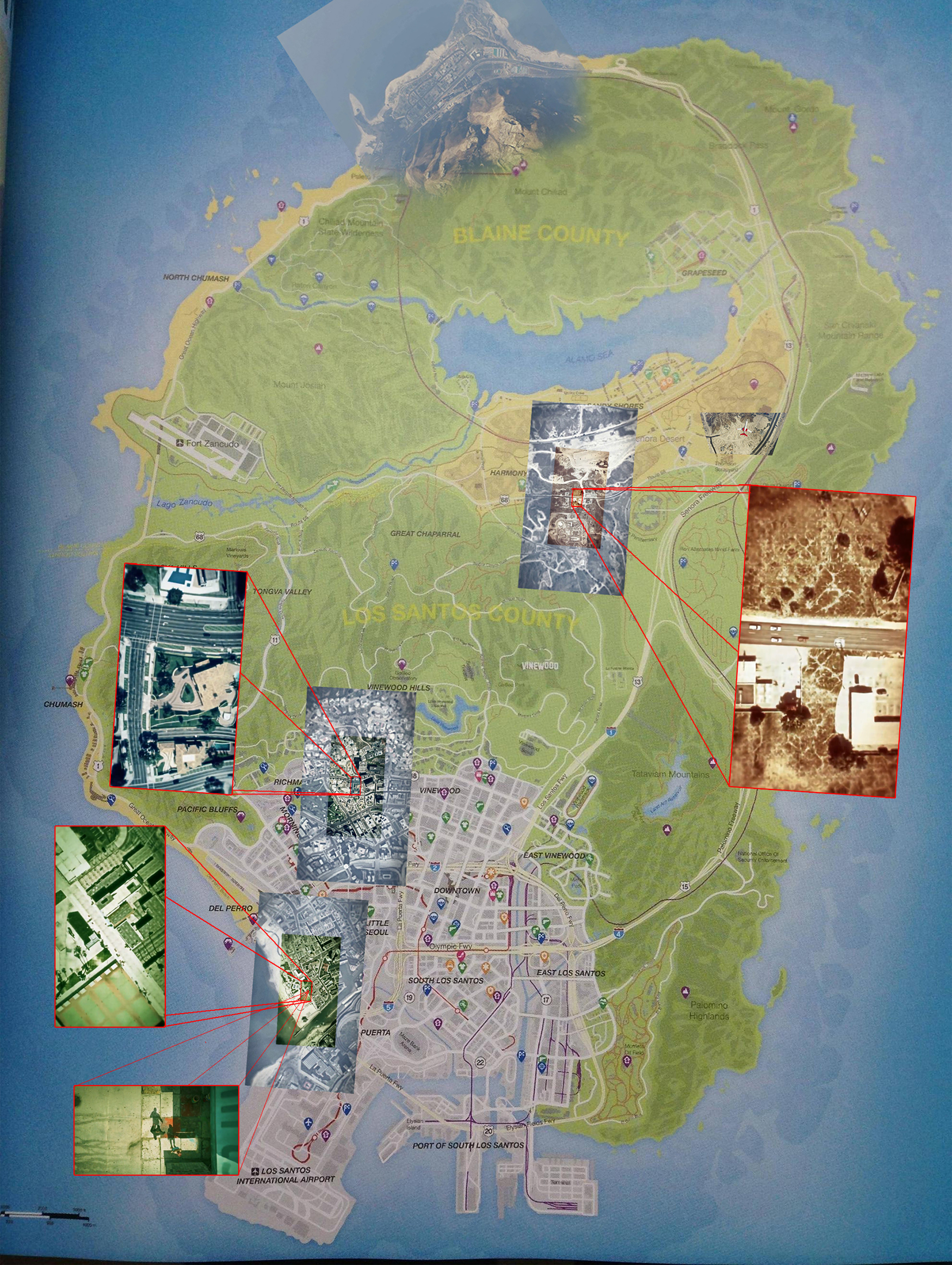 Grand Theft Auto V leaked map