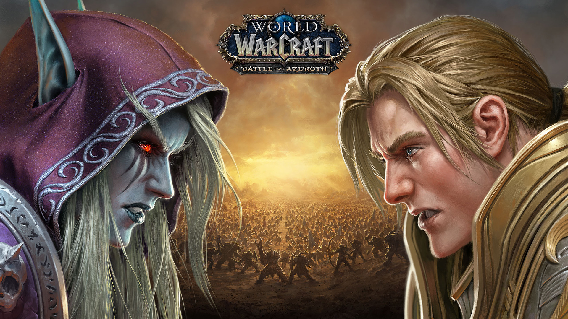 world of warcraft: battle for azeroth wallpaper face-off 1