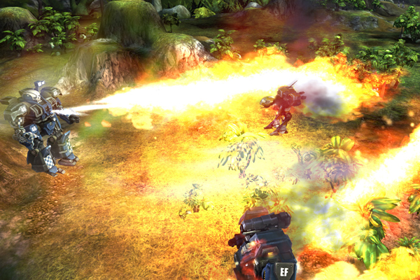 MechWarrior Tactics flamethrowers