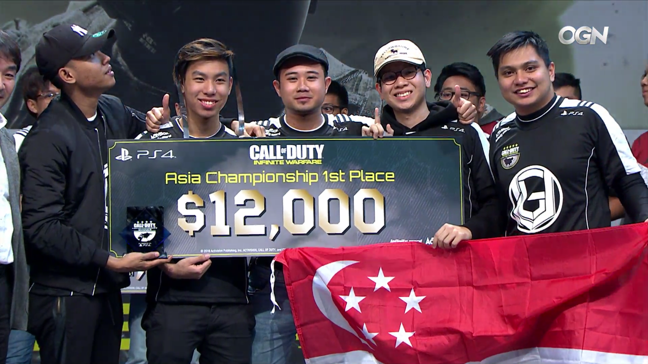 unveil nova cod asia 2017 win