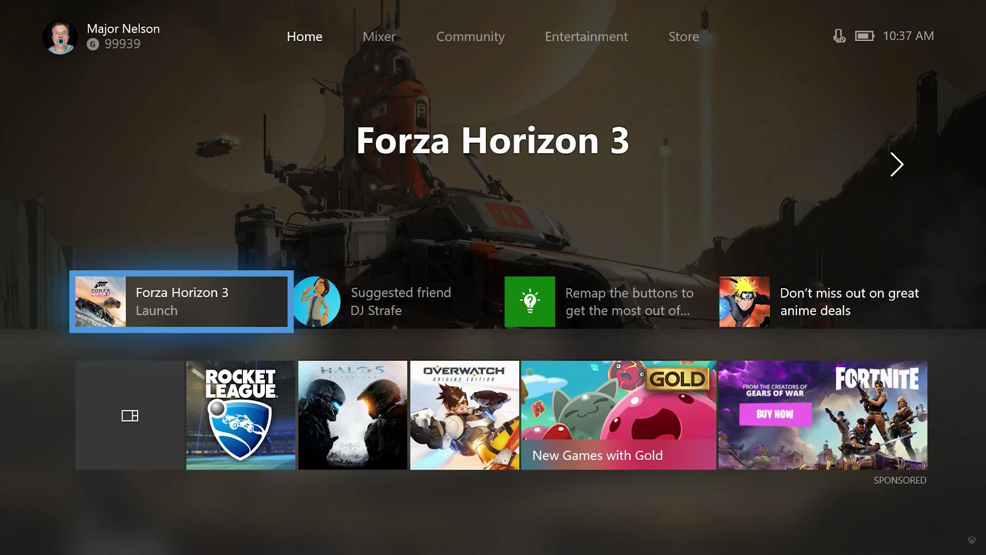 Windows 10 - Update Aug 2017 - game bar