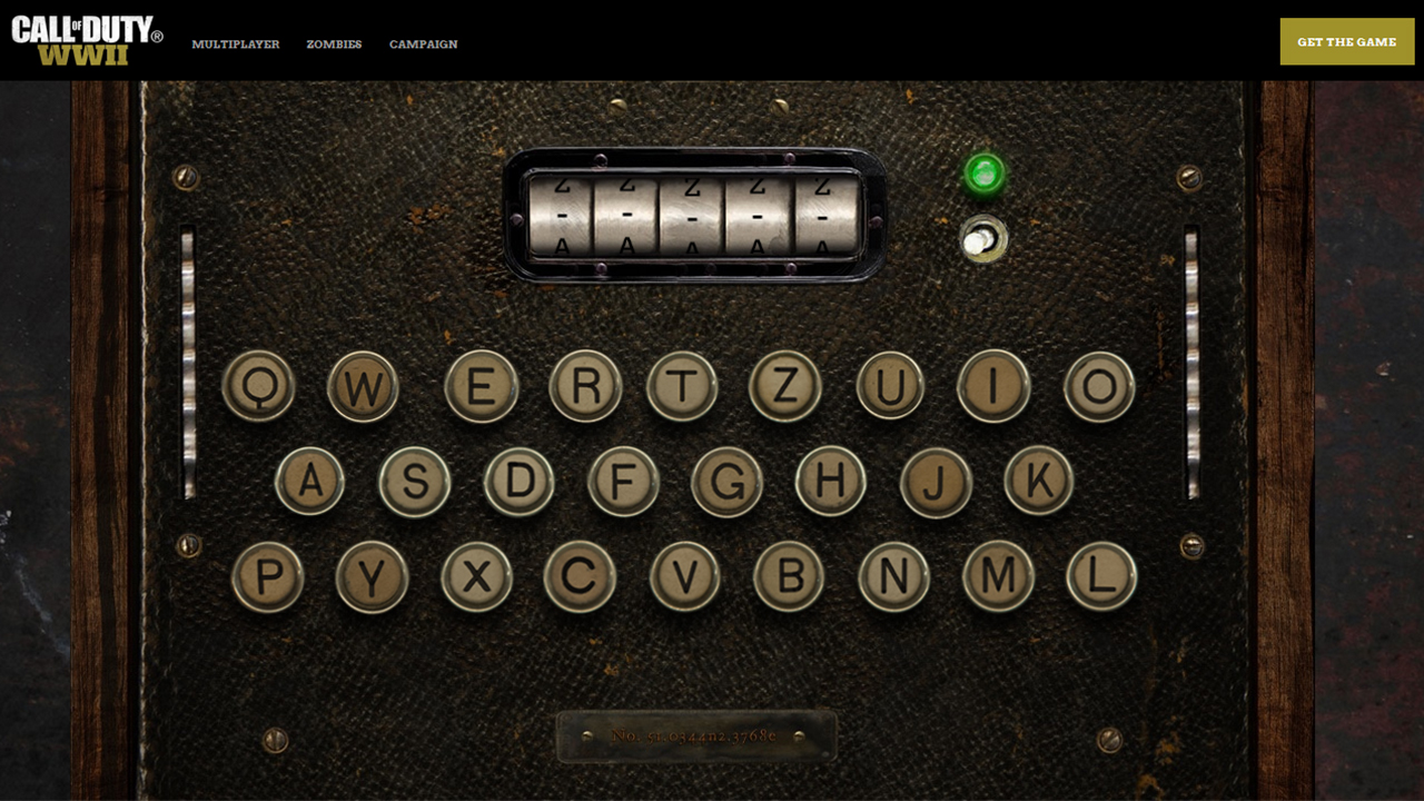 call of duty wwii enigma machine