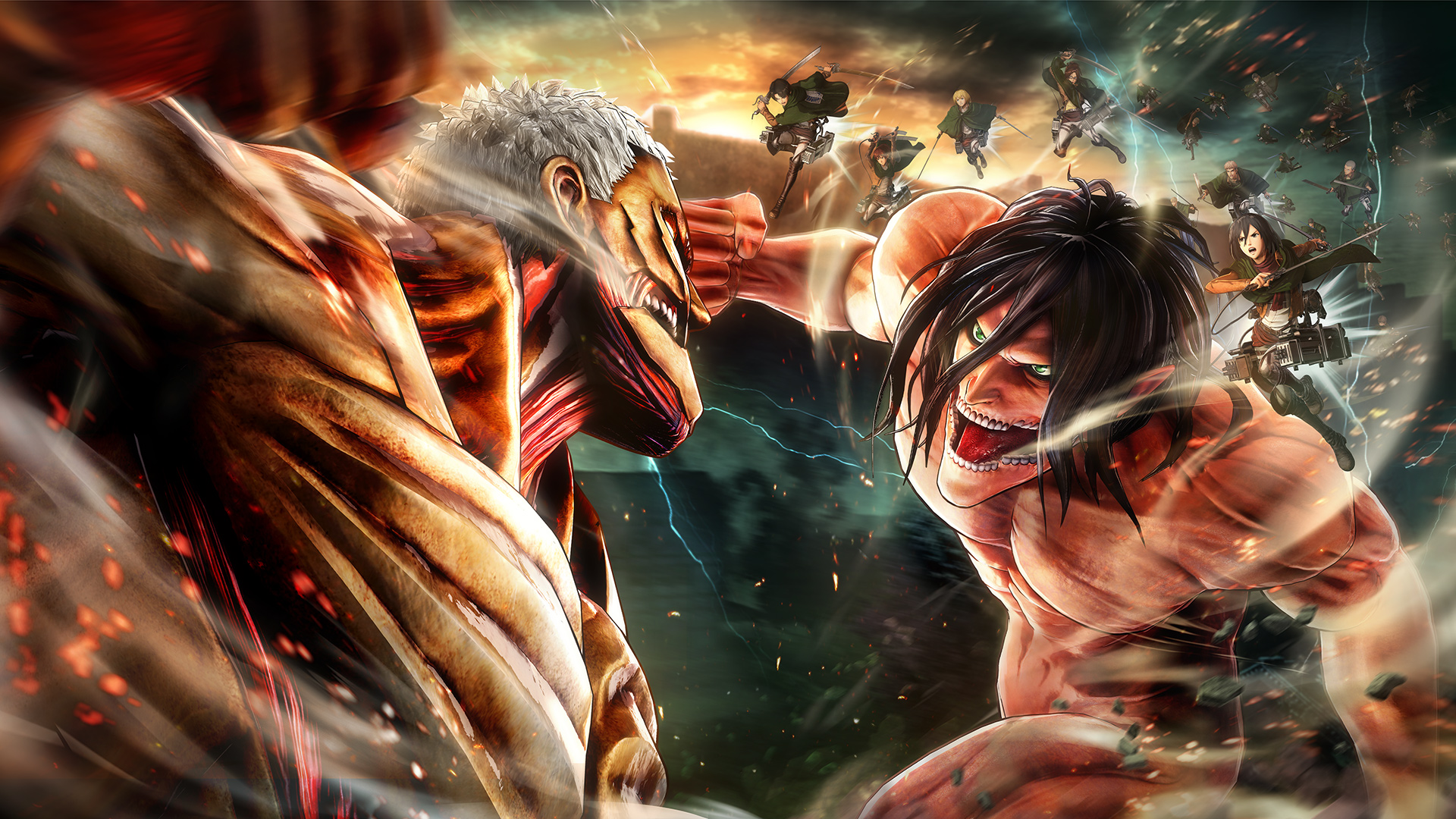 attack on titan 2 key art