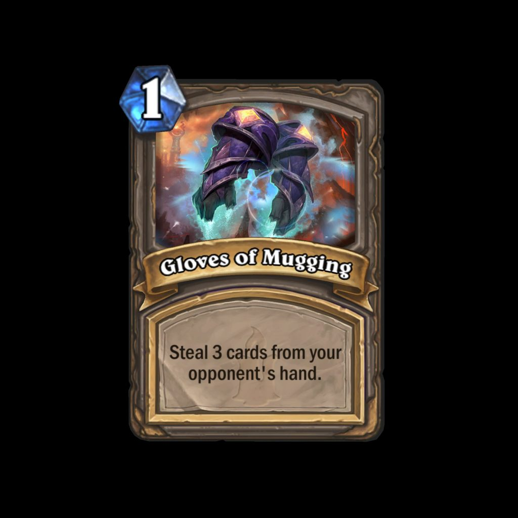 hearthstone: kobolds & catacombs gloves of mugging