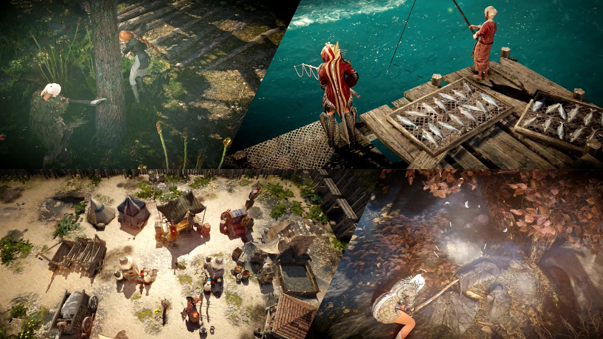 black desert mobile screenshot collage