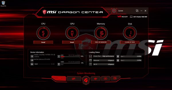 MSI Dragon Center 2 - 01