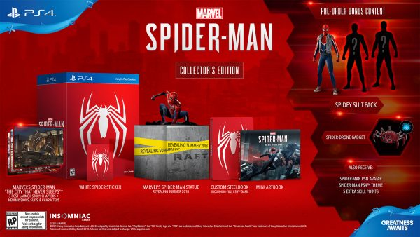 marvel's spider-man - collector's edition NA