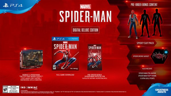marvel's spider-man - digital deluxe NA