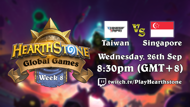Hearthstone Global Games - Singapore vs Chinese Taipei