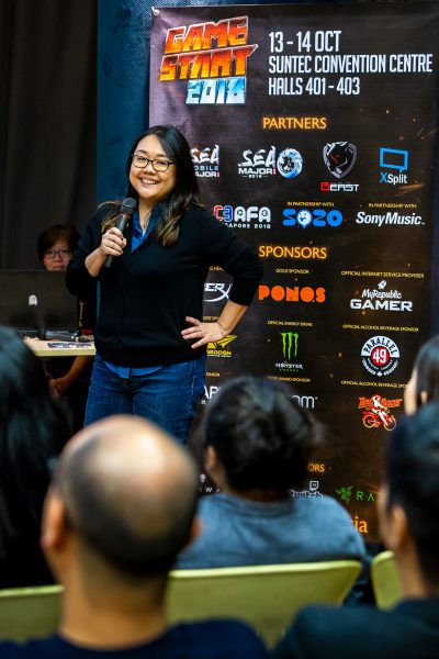 GameStart 2018 - Press Con - Elicia Lee