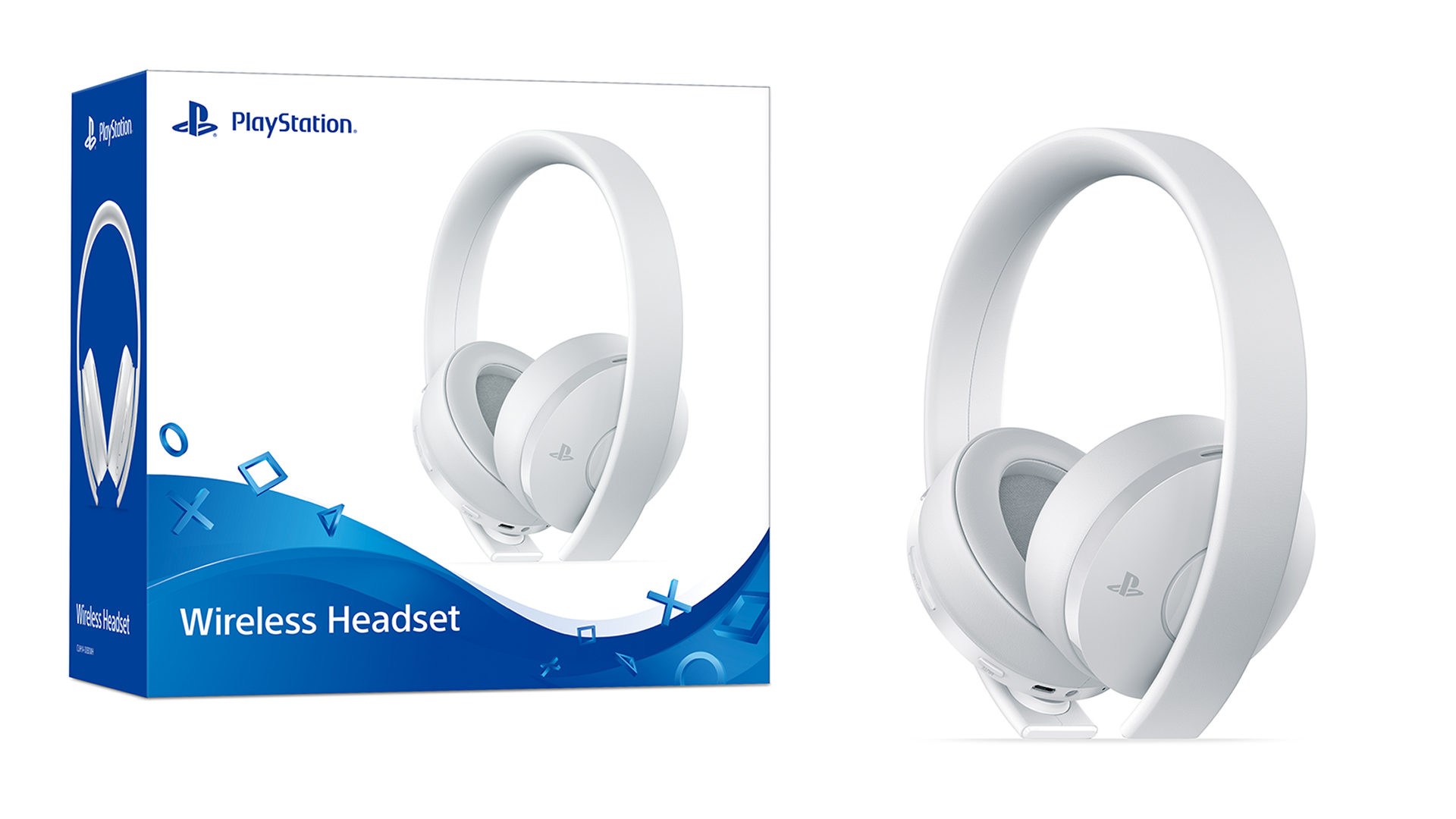 PS4 Wireless Headset - White 01