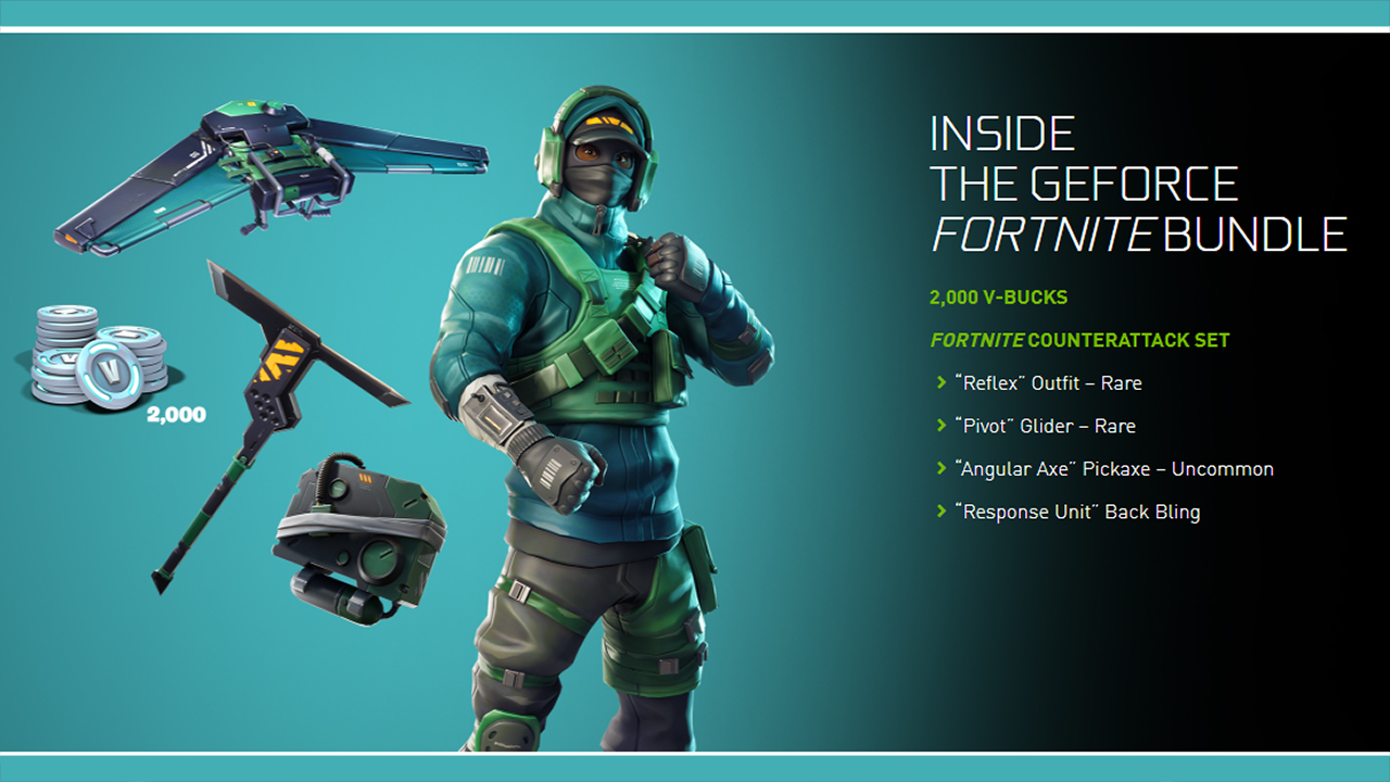 GeForce Fortnite Bundle 2018