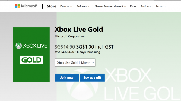 GAX Deal Alert: Xbox Live Gold for $1, Xbox One S and more