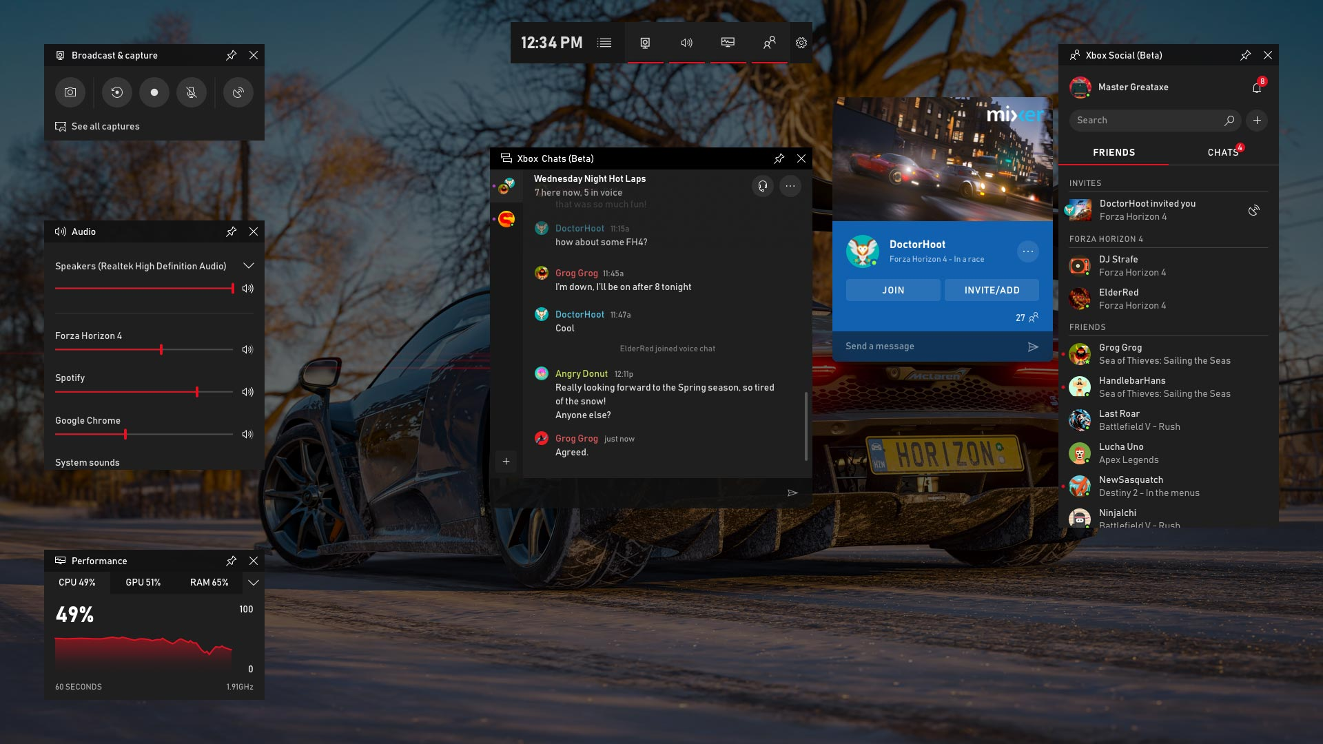 Microsoft Windows 10 Game Bar - Apr 2019 update