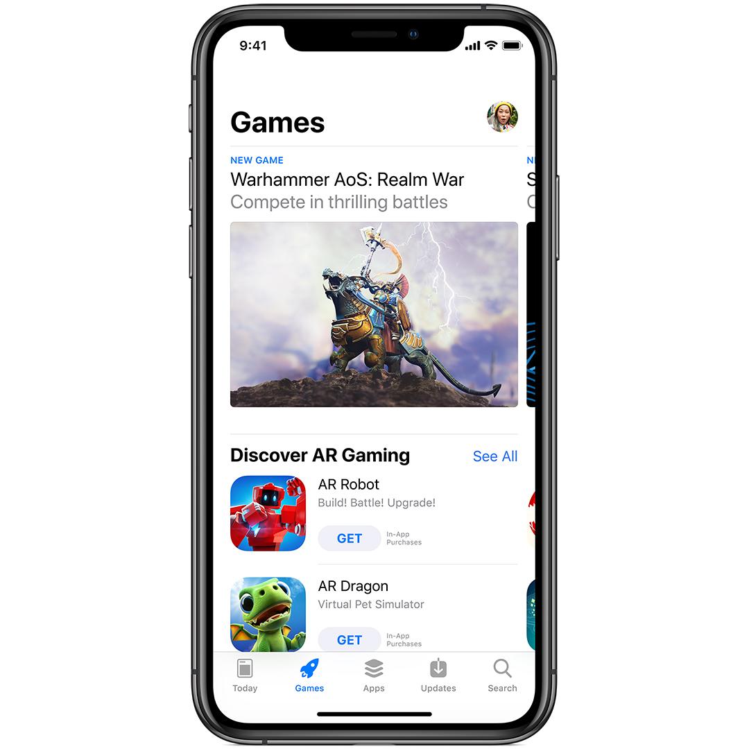 apple app store games tab