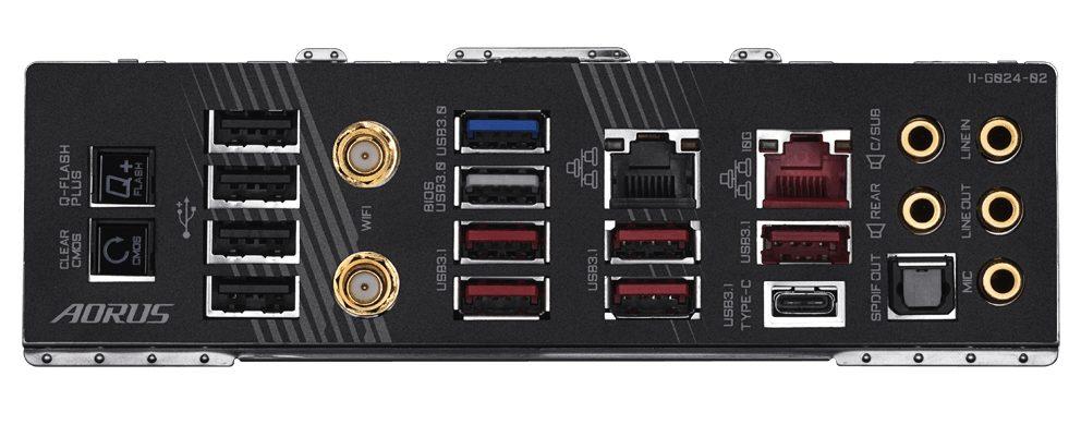 Gigabyte Aorus X570 Extreme - io ports
