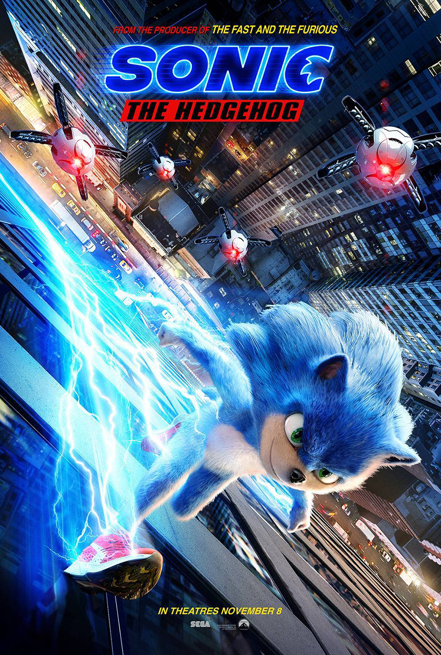 sonic the hedgehog movie poster 1