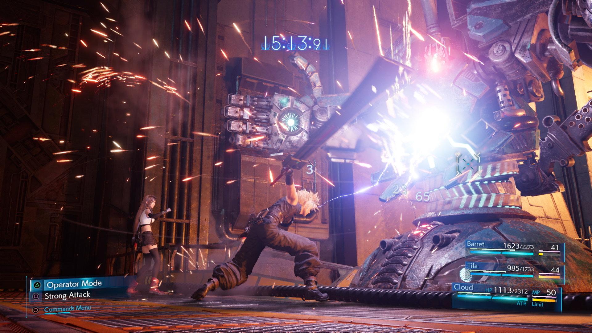 Final Fantasy VII Remake E3 2019 - Cloud Combat